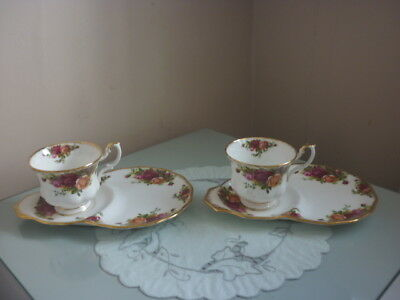 Two Royal Albert Old Country Roses Tennis Sets