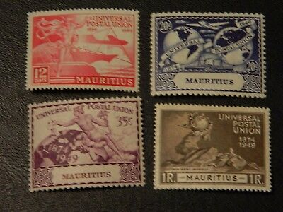 Mauritius Stamps SG 272/275 issued 1949 U.P.U. set of 4 MM