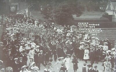 Exning Church Parade Near Newmarket Suffolk 1907 Rp Pc