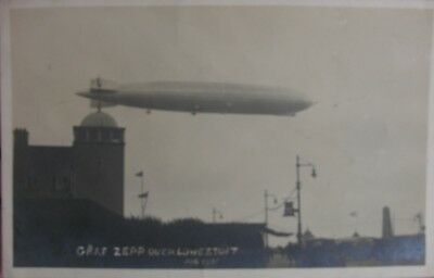 The Graf Zeppelin Over Lowestoft Suffolk 1931 Rp Pc