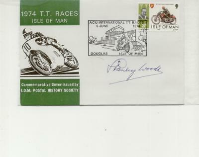 Isle of Man 1974 TT Handstamp Cover Signed by Stanley Woods