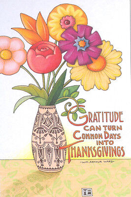 GRATITUDE THANKSGIVING-Handcrafted Fridge Magnet-Using art by Mary Engelbreit
