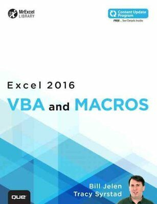 Excel 2016 VBA and Macros (includes Content Update Program) 9780789755858