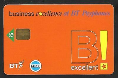 Pro383 Bt & Gpt Business Excellence £5  Mint Chip Phonecard - £5 Face Value!