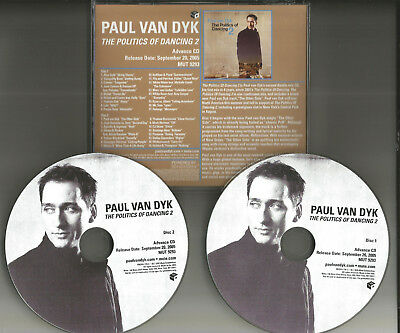 PAUL VAN DYK Politics of Dancing 2 RARE ADVNCE PICTURE DISC PROMO 2 CD solange
