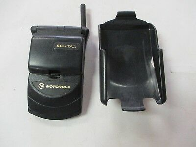 Motorola Used Star Tac Dual Band Flip Phone W/Holster (No charger or Box)