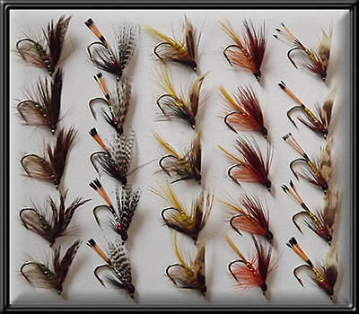 25 TRADITIONAL SCOTTISH WETS FLIES HAND TIED TROUT FISHING FLY for rod reel line