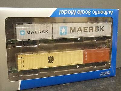 Dapol OO scale 4f-044-002  FEA spine wagon FREIGHTLINER with containers