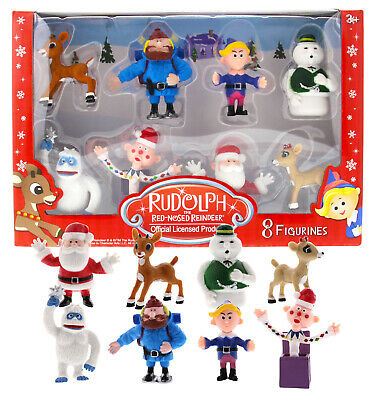 Rudolph the Red-Nosed Reindeer Main Characters from the Classic Movie, Set of 8