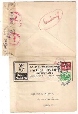 25190 Netherlands WWII 1941 censored advert cover to France