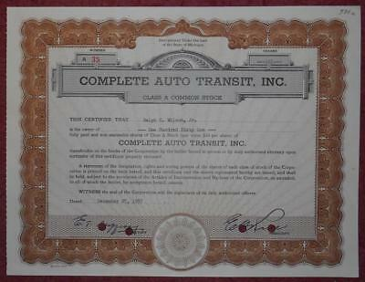 31431 USA 1957 Complete Auto Transit 161 shares certificate
