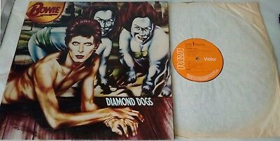 DAVID BOWIE ~ DIAMOND DOGS ~ UK 1st press RCA VINYL LP ALBUM 1974 with BEWITCHED