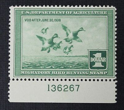CKStamps: US Federal Duck Stamps Collection Scott#RW4 $1 Unused NG CV$85