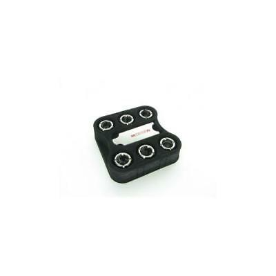 Monsoon Free Center Hardline 1/2 X 5/8 (16mm) 6 Pack - Black Chrome