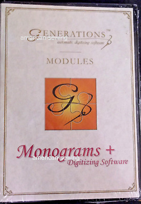 Generations™ Monograms +  Automatic Digitizing Software MODULES ~ NEW SEALED!