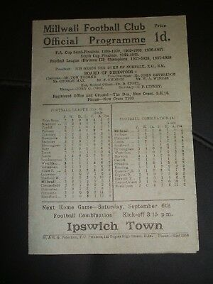 Millwall   V   West Ham United     01-09-1947
