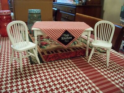 enesco my little kitchen fairies table and chairs 2002 exc. !