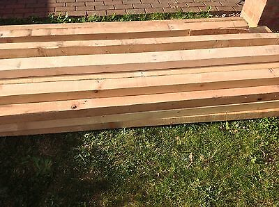 "RECLAIMED TIMBER POSTS 4"" x 3"" x 7ft (2.1m) LONG  FENCING JOISTS ETC EXC COND"