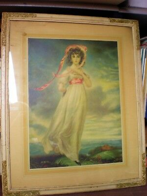 Vintage Art Print//Poster///'Pinkie/'//Reproduction//1794 by Thomas Lawrence 17x22 in