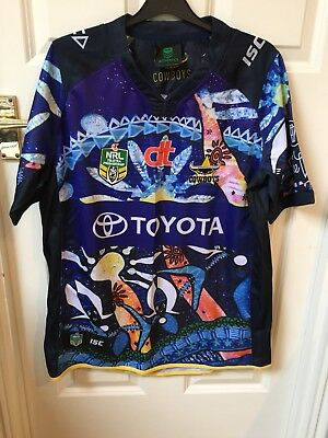 North Queensland Cowboys Indigenous Round NRL Rugby League Shirt. Large