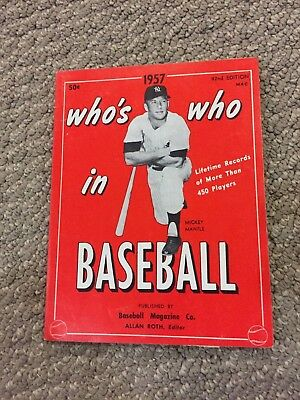 1957 Who's Who in Baseball with Mickey Mantle Cover