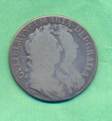 William And Mary Halfcrown 1689