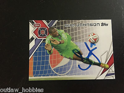 Chicago Fire Sean Johnson 2014 Topps MLS Autographed Signed Cards