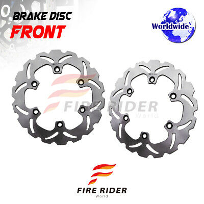 FRW 2x Front Brake Disc Rotor For HONDA NTV DEAUVILLE 680 06-12 07 08 09 10 11