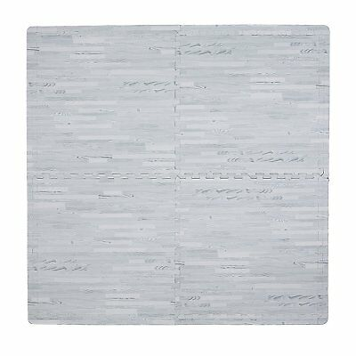 Tadpoles Wood Grain Playmat Set, Grey