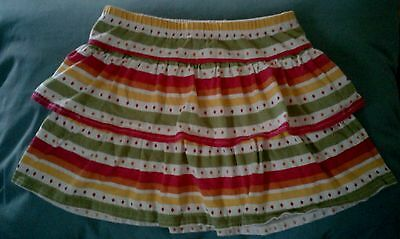Darling GYMBOREE Pleated Striped Dotted SKORT 6 GIRLS Cute!