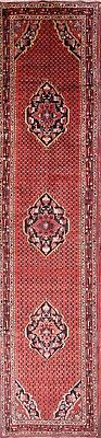"""Palace Sized Coral Color Runner 3x16 Hamadan Persian Oriental Rug 15' 8"""" x 3' 5"""""""