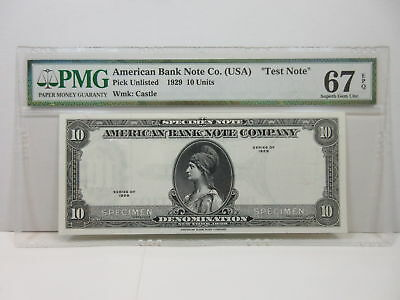 American Bank Note Co Advertising Specimen Note (1990s) Estonia Fort Wmk PMG 67