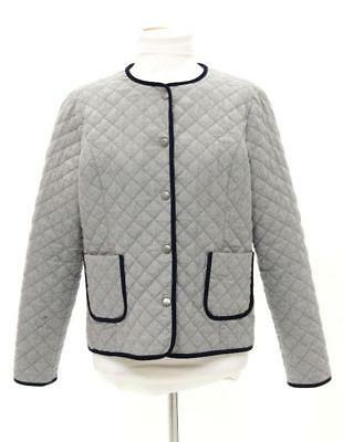 Brooks Brothers Fleece Boy's Grey Quilted Snap Front Jacket Size XL