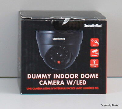 NEW OPEN BOX  SecurityMan SM-320S Dummy Indoor Dome Camera w/LED
