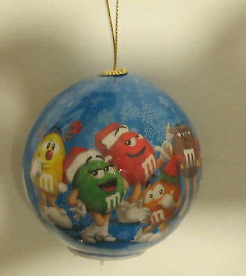 "M&M's World Multi Colored LED Light Up 3"" Ball Ornament M&Ms M&M Characters NWT"