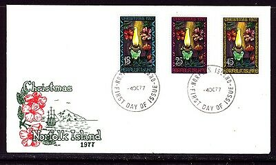 Norfolk Island 1977 Christmas First Day Cover