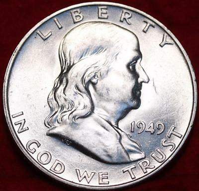 Uncirculated 1949-D Denver Mint Silver Franklin Half Free Shipping