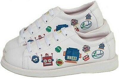Youth Boys Linds Bot Bowling Ball Shoes Color White Size  Sizes 3 - 5