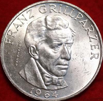 Uncirculated 1964 Austria 25 Schilling Silver Foreign Coin Free S/H
