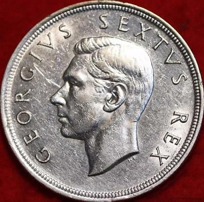 Uncirculated 1951 South Africa 5 Shilling Silver Foreign Coin Free S/H