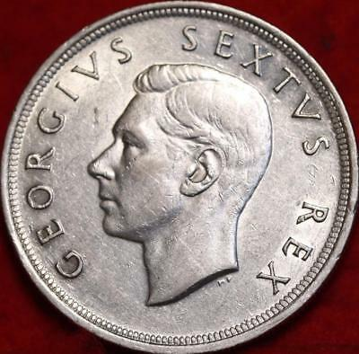 Uncirculated 1952 South Africa 5 Shilling Silver Foreign Coin Free S/H