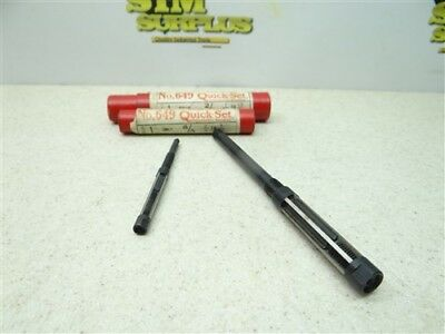 """Pair Of Hss Adjustable Blade Reamers 1/4""""-9/32"""" & 7/16""""-15/32"""" Cleveland"""