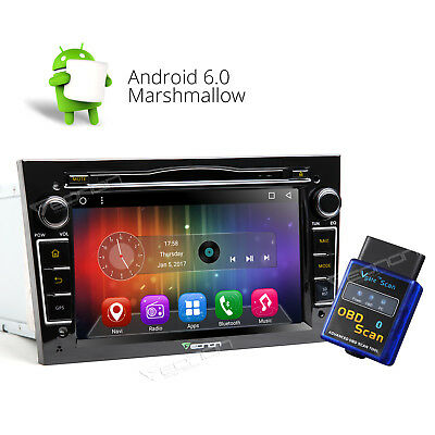 """7""""Android 6.0 In-Dash Car Stereo DVD GPS DAB+ For Vauxhall Opel Holden A +OBD-ll"""