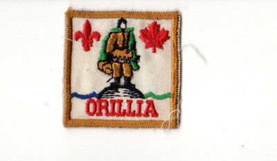 Scouts Canada Orillia Area Ontario - Badge Patch Felted Back ONO08c