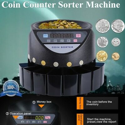 Modern Australian Coin Counter Money Sorter Automatic Counting Sorting Machine