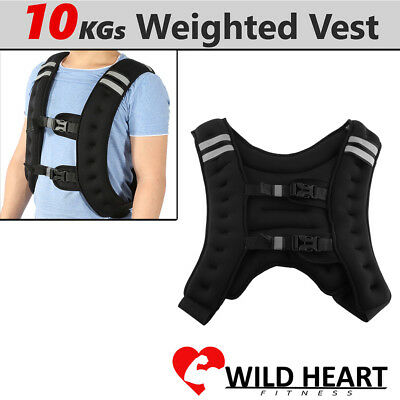 CHIC 10kg Weighted Vest Adjustable Weight Vests MMA Gym Crossfit Training Sports
