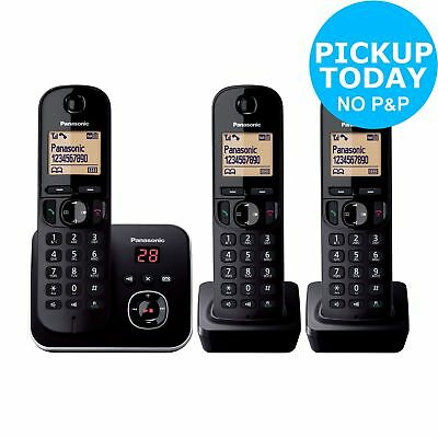 Panasonic KXTG6803 Cordless Telephone with Answer Machine -Triple