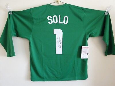 Hope Solo Signed Auto Team Usa United States Green Soccer Jersey Jsa Autographed