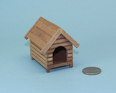 Dollhouse Miniature 1:12 Scale Wooden Budget Quality Dog House #WCGA279B