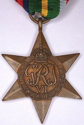 WWII WW2 Second World War Two British medal Pacific Star